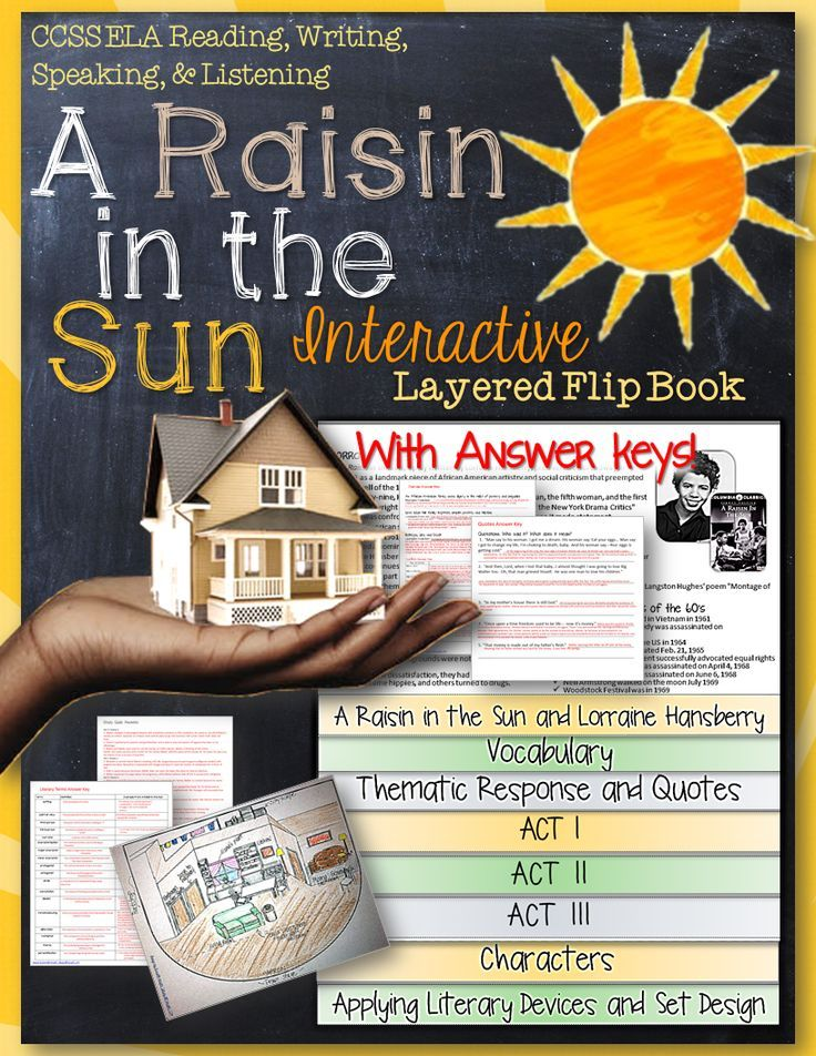 book report on a raisin in the sun A raisin in the sun by: lorraine hansberry to mama: in gratitude for the dream what happens to a dream deferred does it dry up like a raisin in the sun.