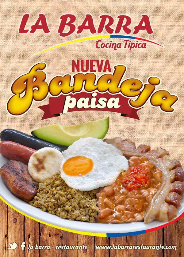 """Una delicia colombiana llega a nuestra carta. """"BANDEJA PAISA"""" con la mejor sazón y calidad en #Cali #ValledelCauca #Colombia http://ow.ly/Fs6u9"""
