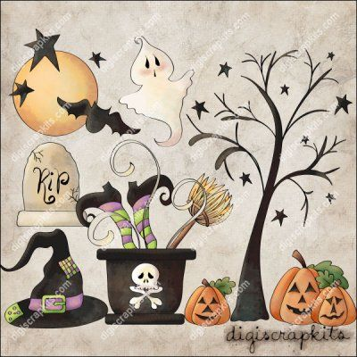 Witch's Brew 1 Clip Art Set