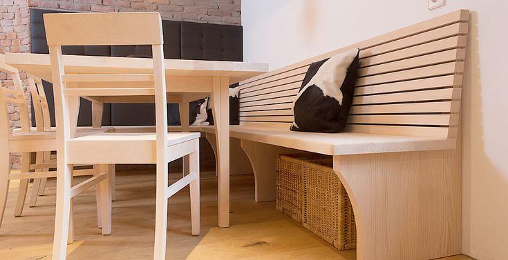 die besten 25 sitzbank mit lehne esszimmer ideen auf pinterest bank mit lehne eckbank. Black Bedroom Furniture Sets. Home Design Ideas