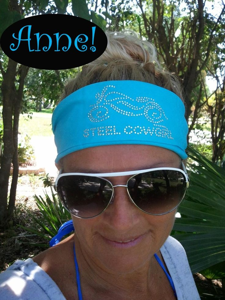 I need one! Steel Cowgirl Anne rocking her bling motorcycle bandana!!!