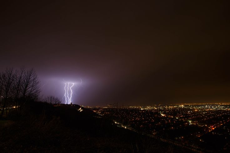 Hamilton Spring Storm - A 24 hour burst of summer-like weather at the end of March was brought to an end with a line of summer-like storms…