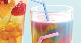 Groovy Banana Blitz: Tie-dyes and lava lamps were the inspiration for this smoothie that is sure to become a favorite with both kids and moms.