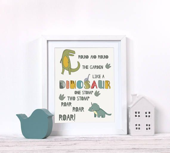 Dinosaur Bedroom Decor, Nursery Decor Dinosaur, Boy Nursery Wall Decor, Dinosaur Poster, Boys Room Prints, Toddler Wall Art, Kids Room Art