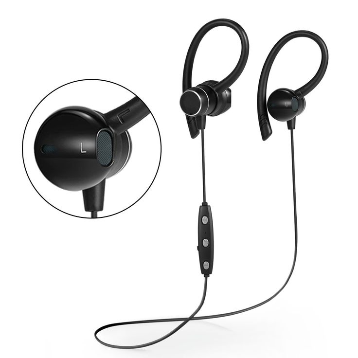 Wireless Sports Bluetooth Headphones V4.1 Shake Proof Earphones with Mic IPX5 Waterproof HD Sound with Bass Magnetic attachment Earbuds for Gym Running Driving Leisure 9 Hour Battery Headsets (black). * SHAKE-PROOF,* TOSS YOUR HEAD CRAZILY, IT WON'T FALL OUT NO WEARING PAIN OR DISCOMFORT; hanging design headphones, supra-aural earphone, a little tilt angle wearing in your ear, avoids the stethoscope effect, no pain for long wearing, ultra light body, only 16.8 grams, comfortable wearing...