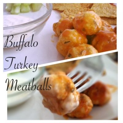 Ripped Recipes - Buffalo Turkey Meatballs - Extra lean turkey meatballs with a little kick! Serve with some carrots and celery and some light ranch when you're craving some wings!