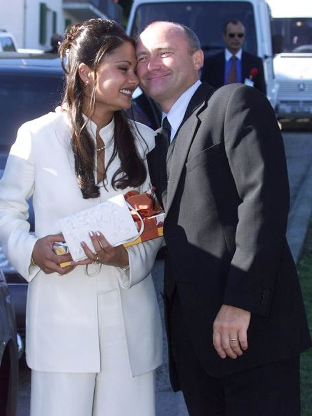 Phil Collins and Orianne Cevey by http://www.wikilove.com