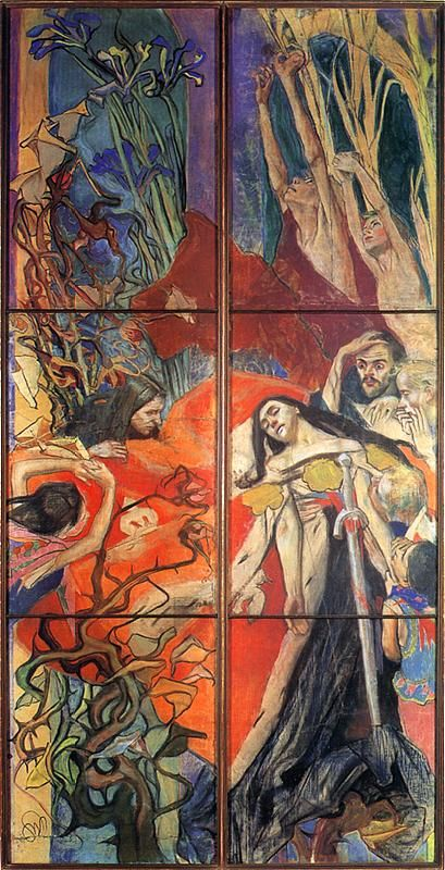 Polonia, stained glass project for Lwow Cathedral, 1894