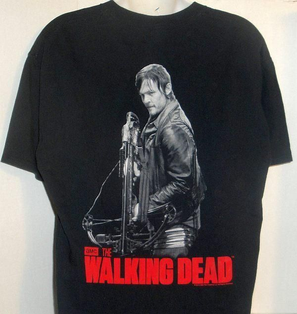 OFFICIAL AMC TV SHOW WALKING DEAD DARYL DIXON CROSSBOW GRAPHIC T-SHIRT LARGE #JERZEES #GraphicTee