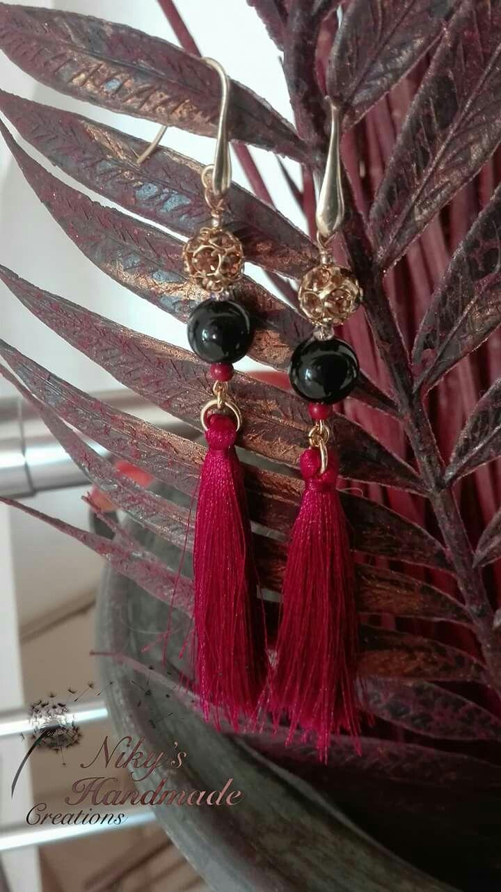 "Earrings tassels ""Niky's handmade creations"""
