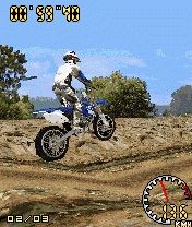 3D Motocross Mobile Game (Symbian 60 v3rd + JAVA) Free Download - softchase