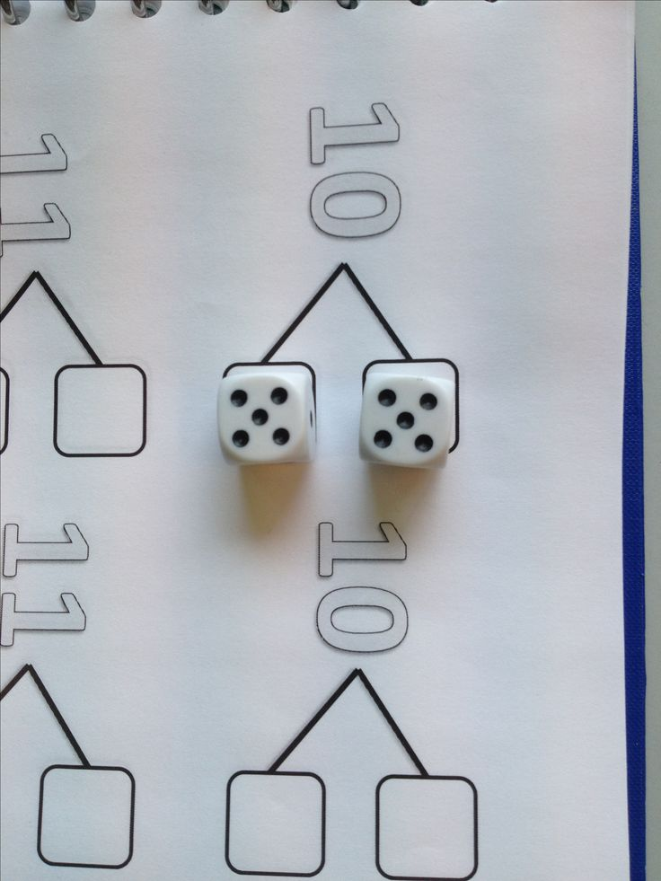 using this page and dice..........................splitsen met dobbelstenen
