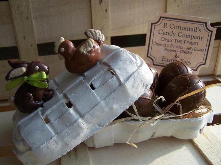 Création modelage de Pâques : lapin et poule modelés en pâte fimo. Par Claire SARRAZIN.