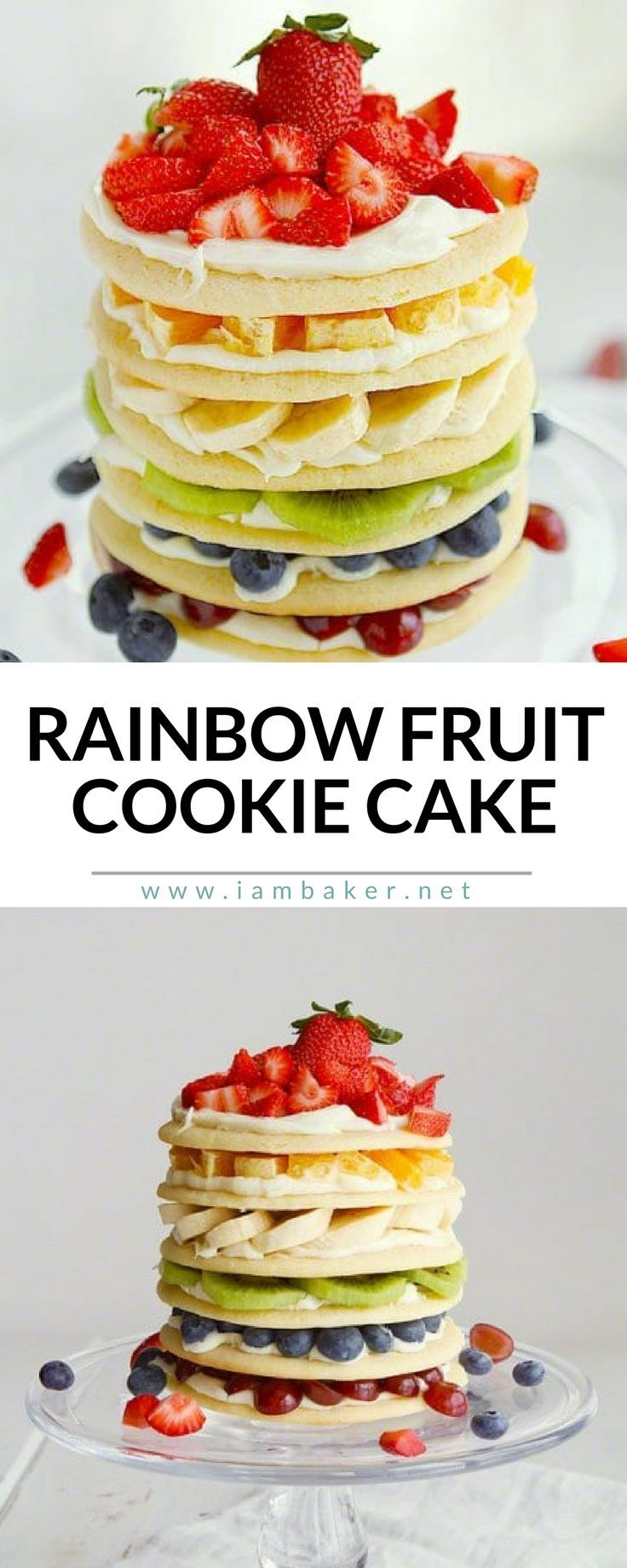 Rainbow Fruit Cookie Cake- St. Patricks Day is approaching, and it seems like the trends are green, gold, beer, and rainbows. I thought a Rainbow would be the perfect way to incorporate a St. Patricks Day celebration in our home.