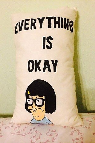 Wild applause for crentist who handmade this piece of fluffy, pillowy genius to hug their troubles away. | Tina Belcher Will Get You Through Any Bad Day