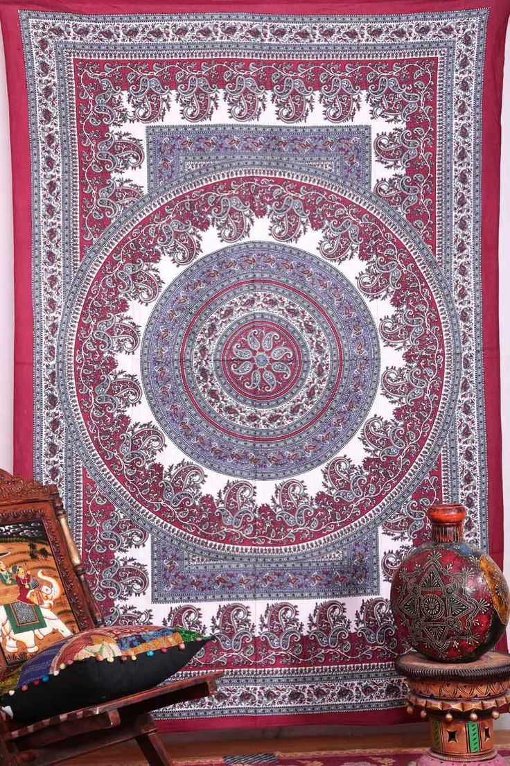 Hippie Wall Hanging Tapestries Indian Mandala by