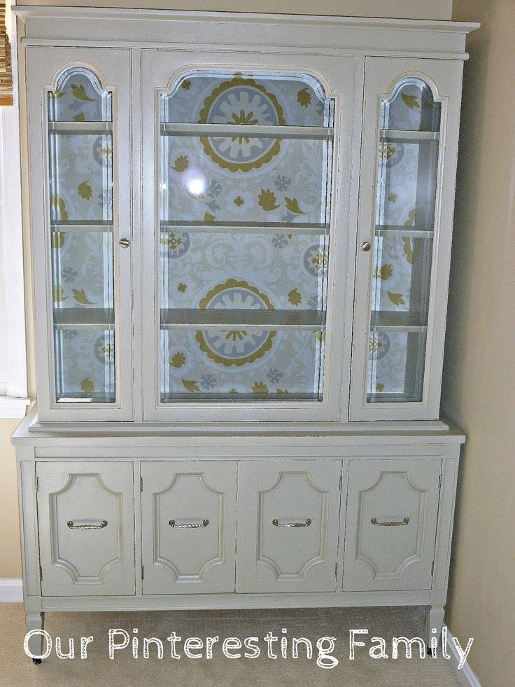 Our Pinteresting Family: Gray China Cabinet by Rob & Megan
