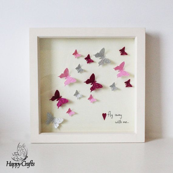 Butterfly Fly Away With Me Flutter Picture Frame by HappyCraftsx