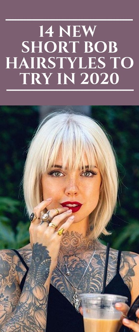 14 New Short Bob Hairstyles to Try in 2020  #hairstyles #Bobhair #Bobhaircut #st…