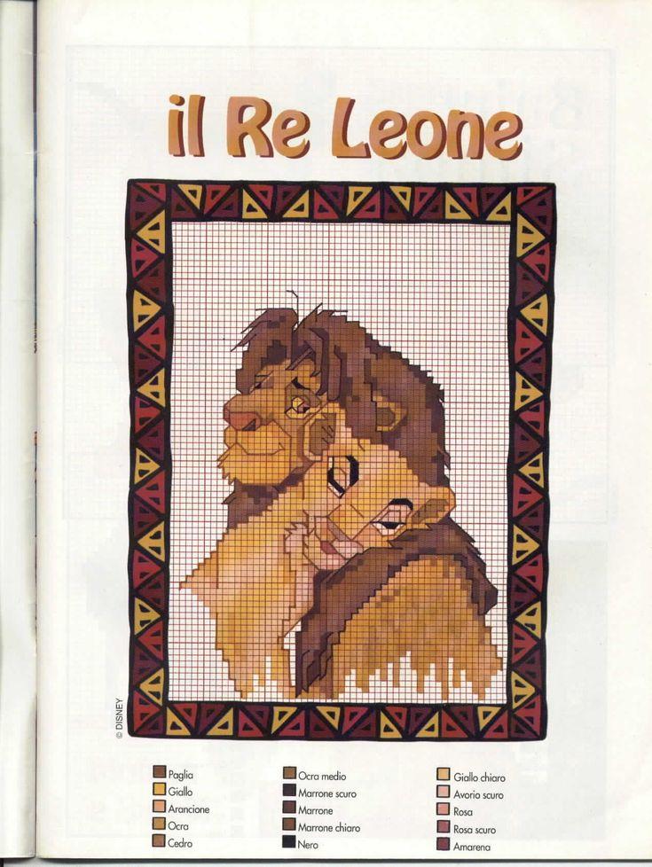 punto croce schemi il re leone - Cerca con Google
