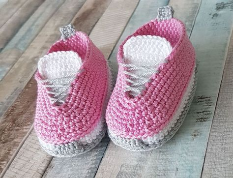 Sapatos de bebê de crochê grátis   – Häkeln