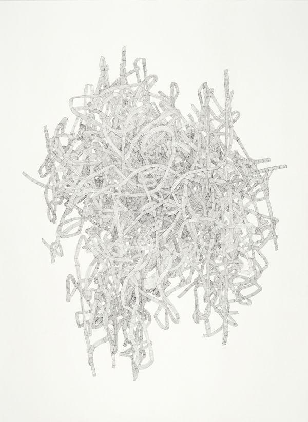 Julie Ouellet - Noeud # 12-04, encre sur papier, 2012