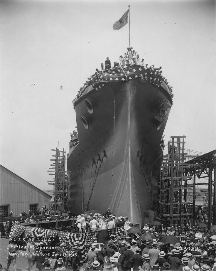 The USS Arizona - Amazing pictures of the Life and Death of an ill fated Battleship - WAR HISTORY ONLINE - Launching
