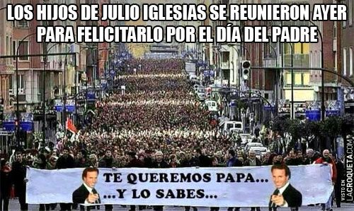 Los hijos de Julio Iglesias se reunieron ayer para felicitarlo por el Día del Padre
