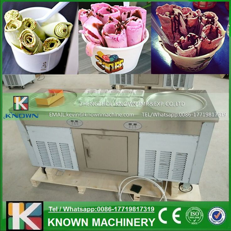 110V/220V Imported compressors R410A temperaure setting function fry ice cream roll machine, flat pan fried ice cream machine //Price: $US $1580.50 & FREE Shipping //     #kitchenappliances
