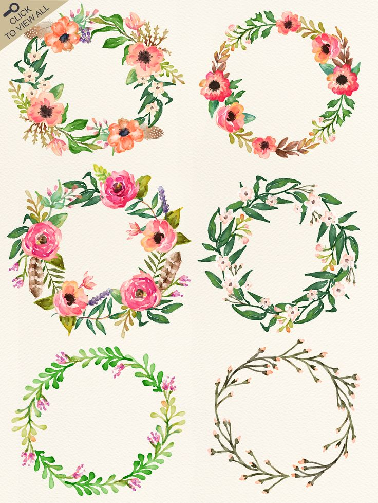 Watercolor flower DIY pack Vol.2 - Illustrations - 3