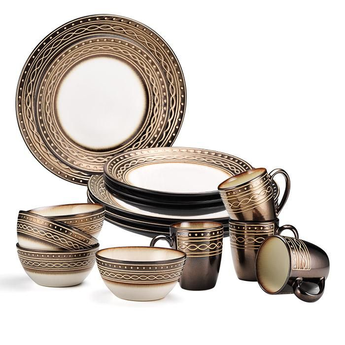 An Avon Exclusive!The Gourmet Basics by Mikasa Luciana complete collection, a unique twist of mocha prints with embossed white dots, straight lines, and infinity loops. Guests will be mesmerized by the unique, eclectic presentation of the stoneware.FEATURES• Dishwasher safe• Microwave safeMATERIALS• StonewareCARE• Dishwasher safeNeed more? -- Shop the entire Luciana Collection individually: Gourmet Basics by MikasaLuciana4-Piece Bowl Set,Gour...