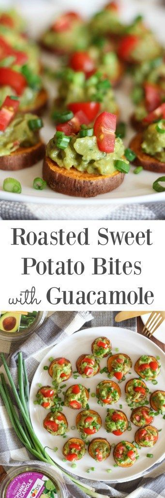 Roasted Sweet Potato Bites with Guacamole {vegan, gluten free} // http ...