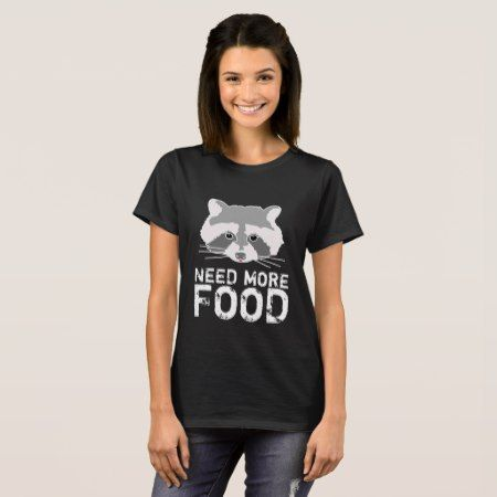 Funny Raccoon Black T-Shirt - click/tap to personalize and buy