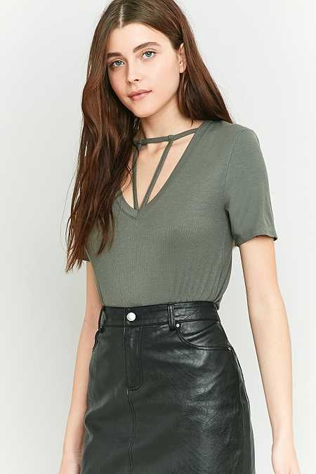 Urban Outfitters Kasey Strappy Short Sleeve T-shirt