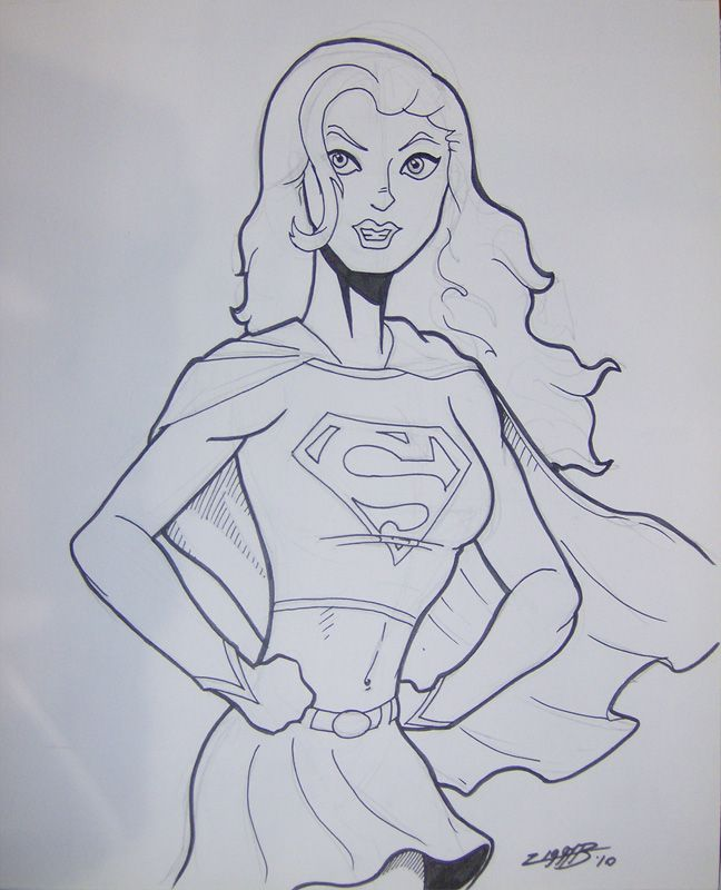 draw Supergirl Hero Printable coloring pages for kids boys and ...
