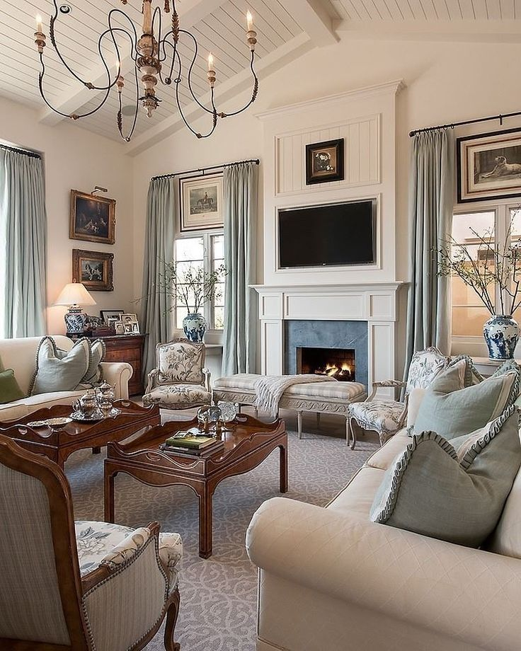 Interiors Living Family Rooms Blue White North Scottsdale Residence By Camelot Homes