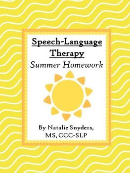 60 page summer homework packet for speech-language therapy! pinned @ pediatric therapy center - for all of our pins, please visit our page at pinterest.com/pedthercenter/