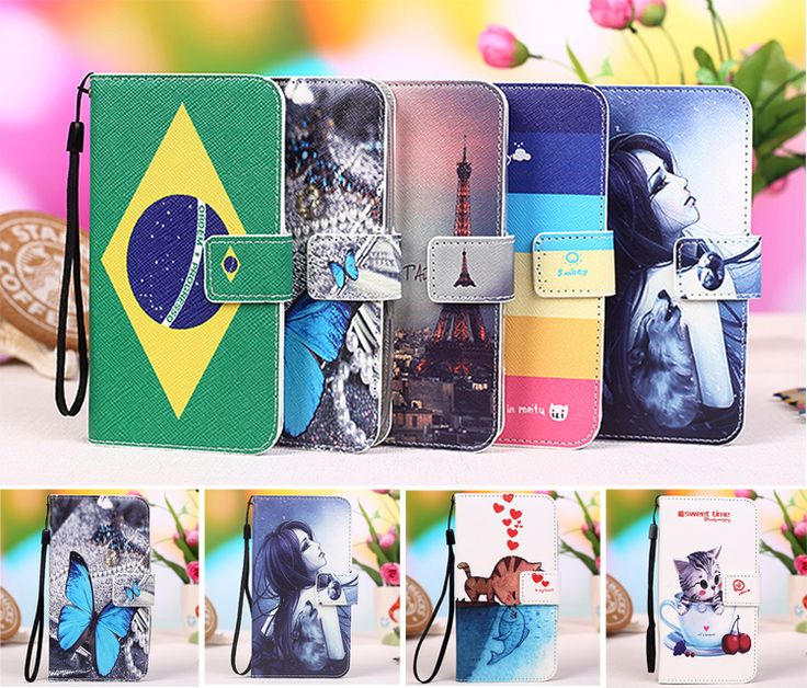 Multi colors Cartoon Printing Flip PU Leather Phone Wallet Case For BQ BQS-5045 Fast Mobile Phone case cover +Tracking number