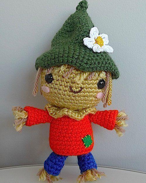 Project: Crochet a Scarecrow Amigurumi en 2018   Mis Muñecos lindos ...