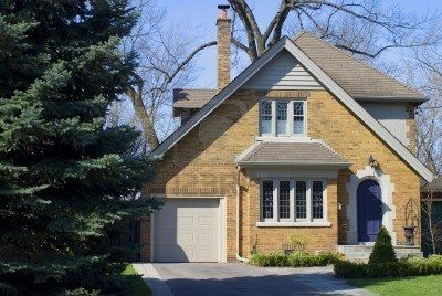 yellow brick house--roof color and door color