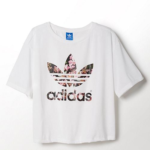 adidas Orchid Tee LOVE Women's adidas Originals Lifestyle Apparel ORCHID TEE $30.00 S88223 Running White/Run White (S88223)