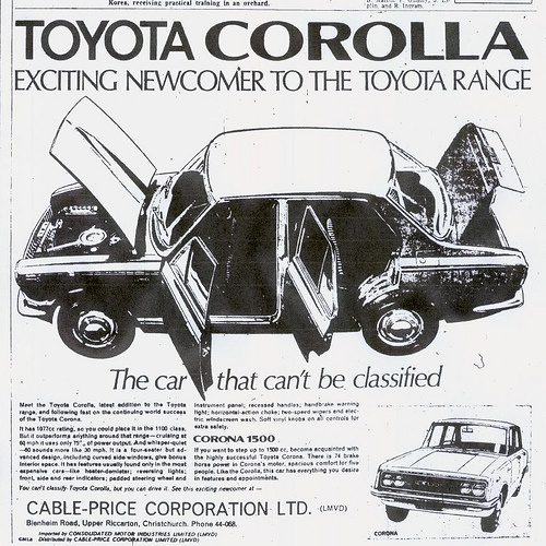 Toyota Corolla KE10 Exciting Newcomer by Classic Japanese Cars in New Zealand, via Flickr
