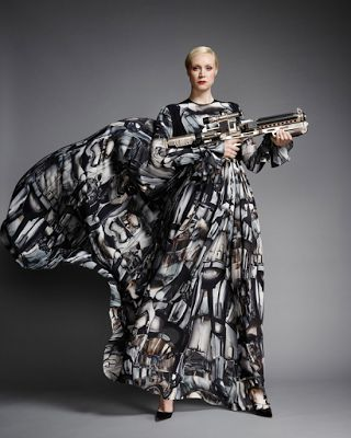 Gwendoline Christie Poses in Captain Phasma Inspired Gown for Vanity Fair | The Star Wars Underworld
