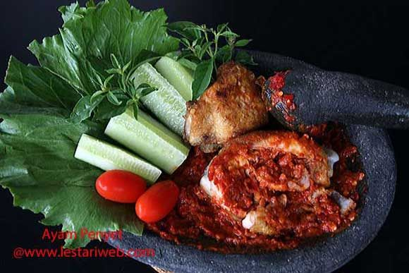 Bruised Fried Chicken with Chilli Sambal