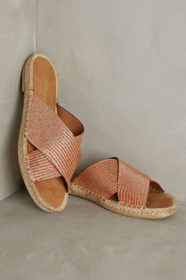 Slide View: 1: Maypol Metallic Espadrille Sandals