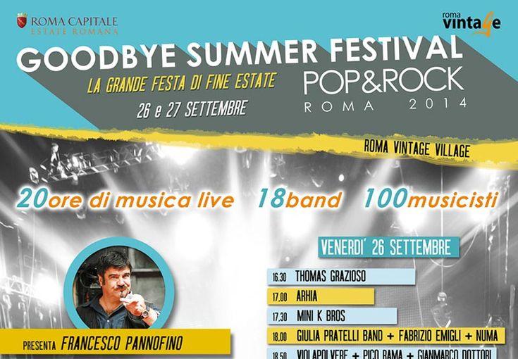 """Goodbye summer festival sbarca al Roma Vintage Village! L'articolo di """"Cinque Quotidiano"""" sulla più lunga maratona musicale di fine estate..."""