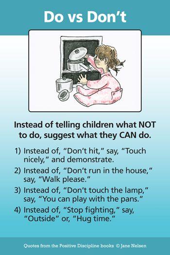 Teach Children What to Do | Positive Discipline