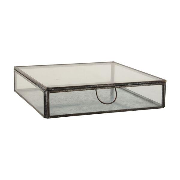 Ib Laursen - glasbox med låg kr. 149 18 x 18 cm til opbevaring af the-breve?
