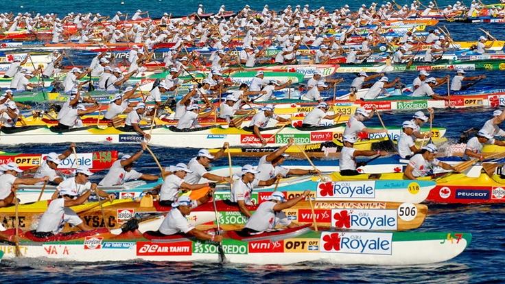 Hawaiki Nui Va'a - Outrigger Canoe race