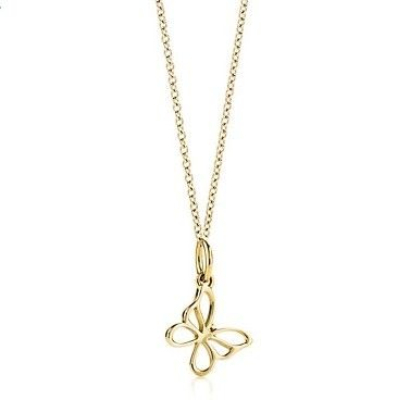 Tiffany & Co Outlet Butterfly Charm And Chain